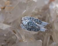 Trilogy diamond engagement ring set