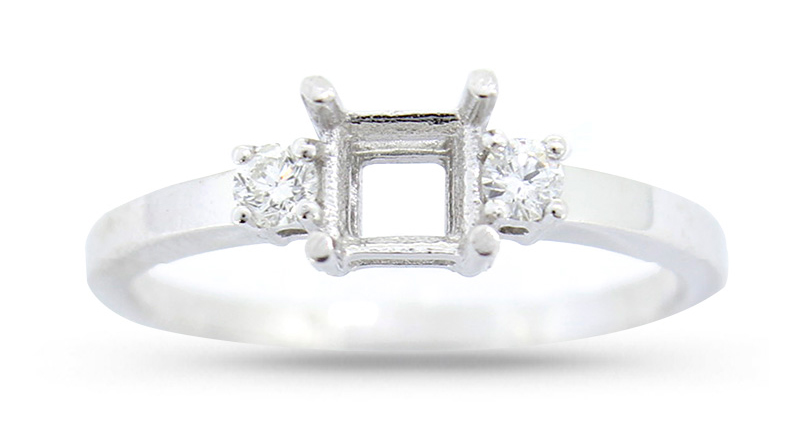 Diamond ring semi-mount