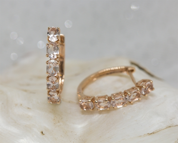 Morganite earrings for Valentine's Day