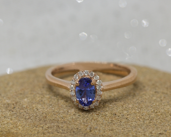 tanzanite ring Valentine's Day gift idea
