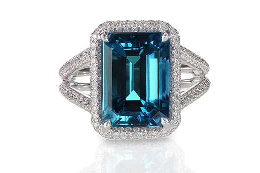 Birthstone ring aquamarine
