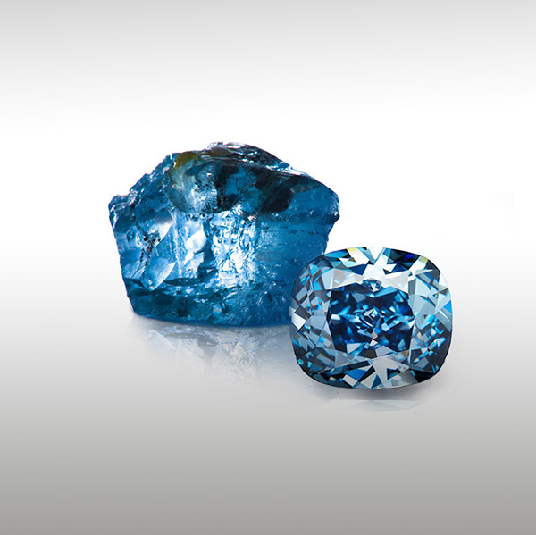 Blue Moon South African blue diamond