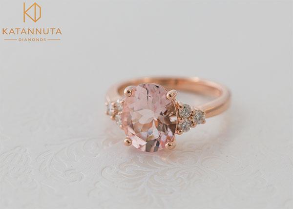 Morganite engagement ring trends