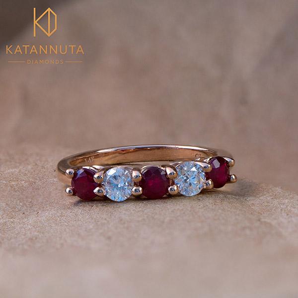 Ruby july birthstone wedding ring