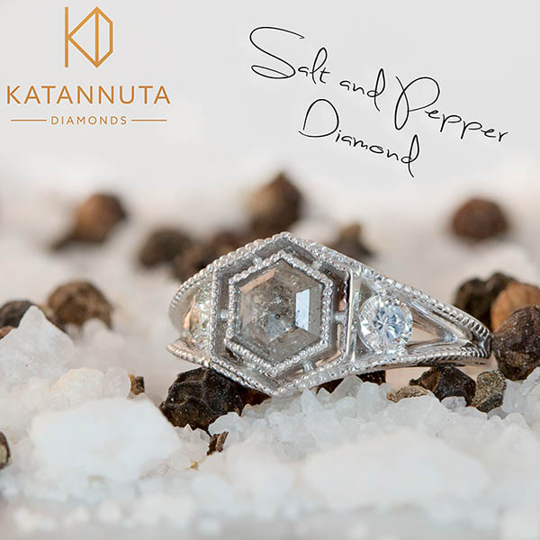 Salt and pepper engagement ring trend