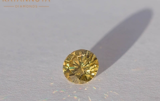 Round yellow diamond from South Africa