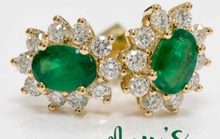 May birthstone emerald earrings