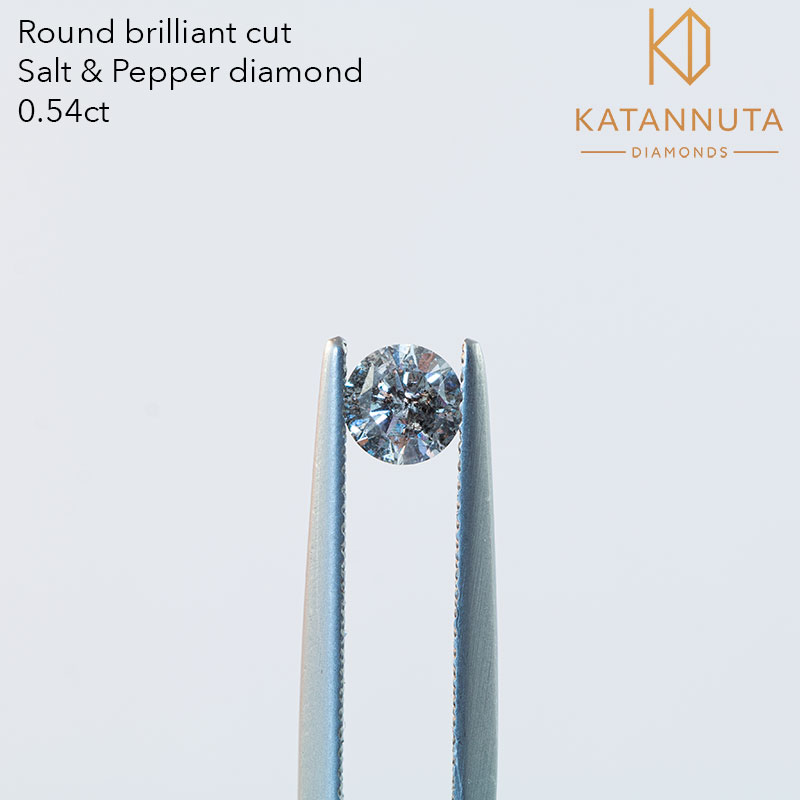 0.50ct round salt and pepper diamond south Africa