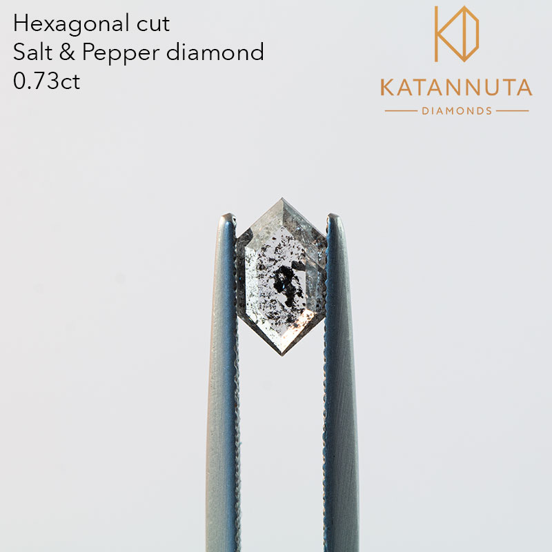 long hexagon salt and pepper diamond