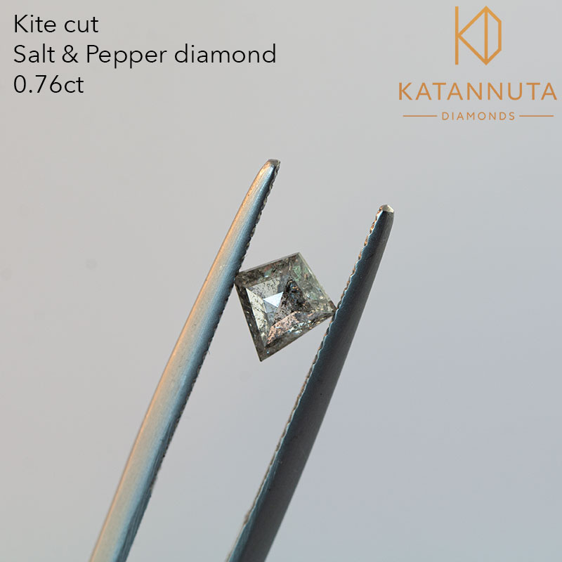 0.76ct kite cut salt and pepper diamond in South Africa