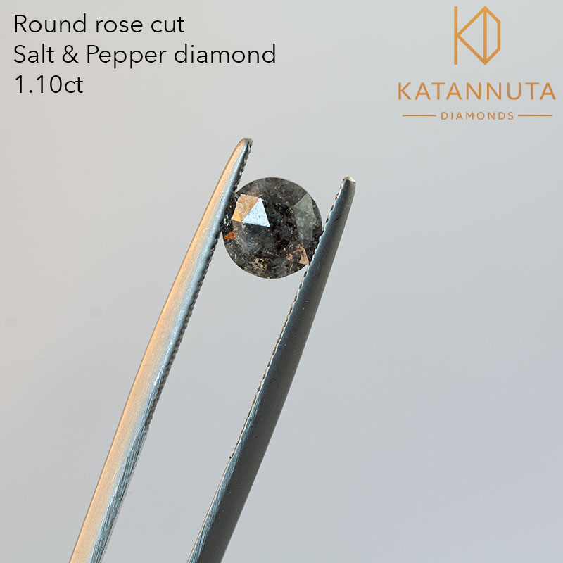 1 carat round salt and pepper diamond in south africa