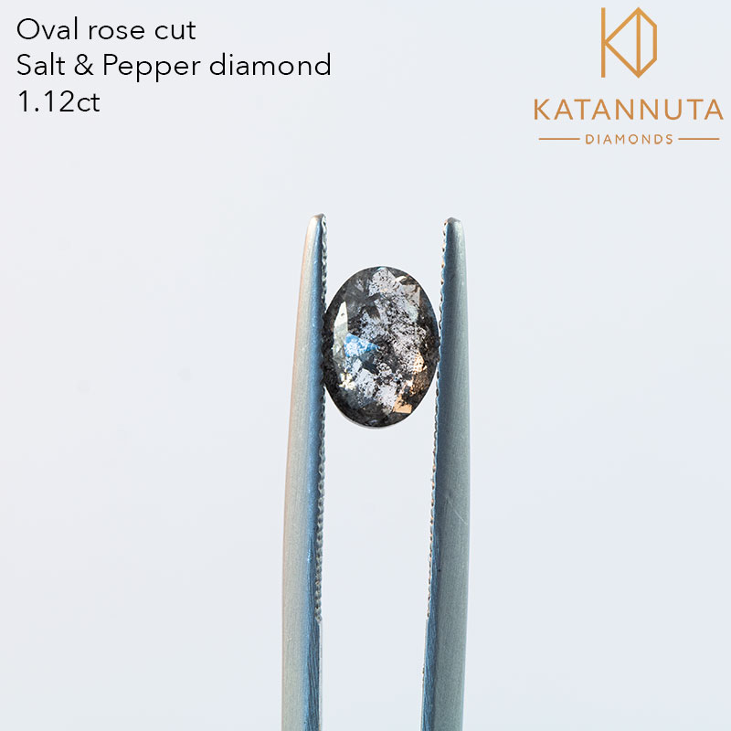 1 carat oval salt and pepper diamond cost