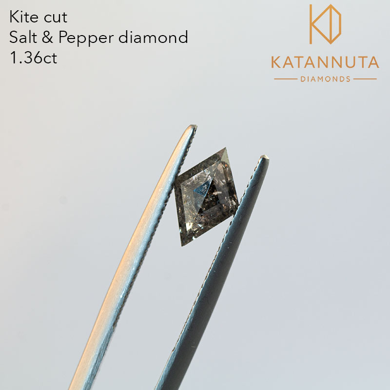 Kite cut salt and pepper diamond in south africa