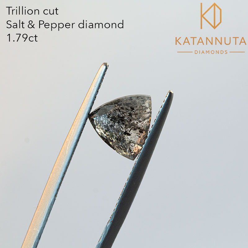 trillion cut salt and pepper diamond for sale in south africa