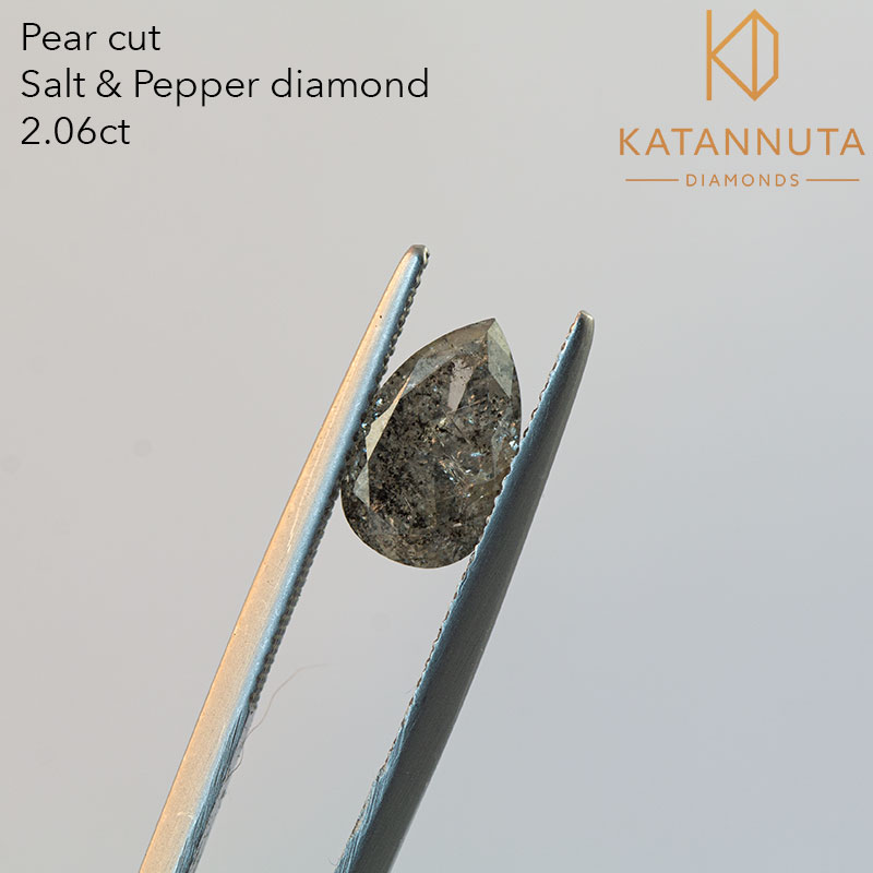 2 carat pear cut salt and pepper diamond south africa