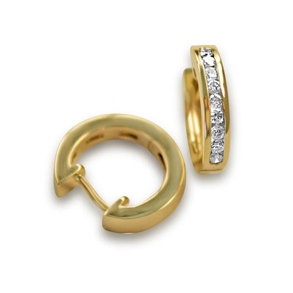 Diamond huggies hoops