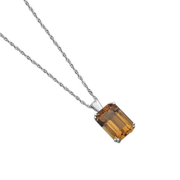 citrine gemstone pendant