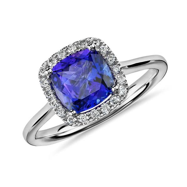 Tanzanite diamond engagement rings