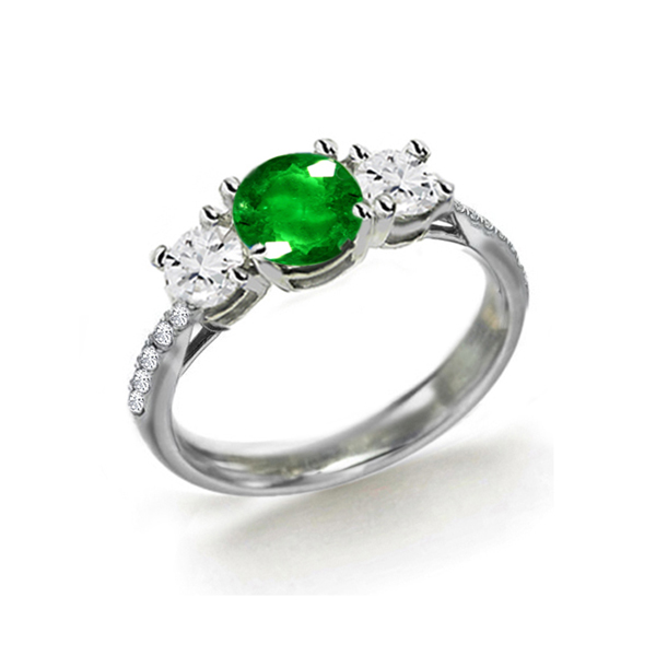emerald and white gold ring