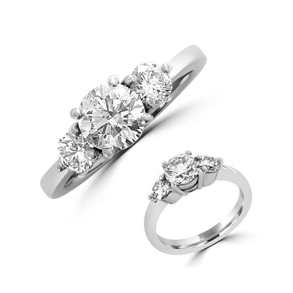 trilogy diamond engagement ring