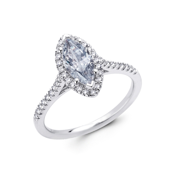 marquis diamond halo ring
