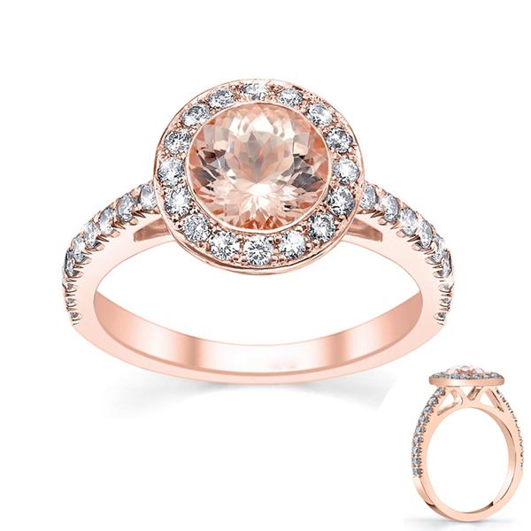 Rose gold morganite ring