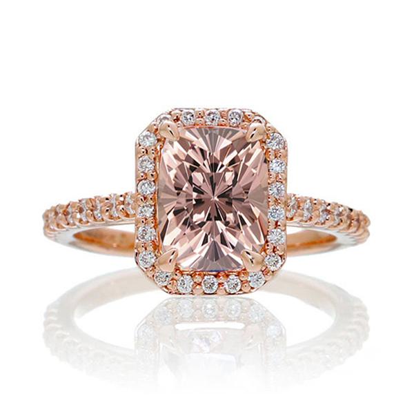 Pink morganite ring