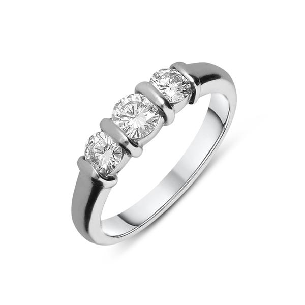 bar set diamond ring