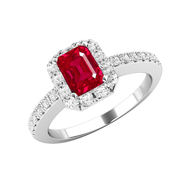 rectangle ruby engagement ring