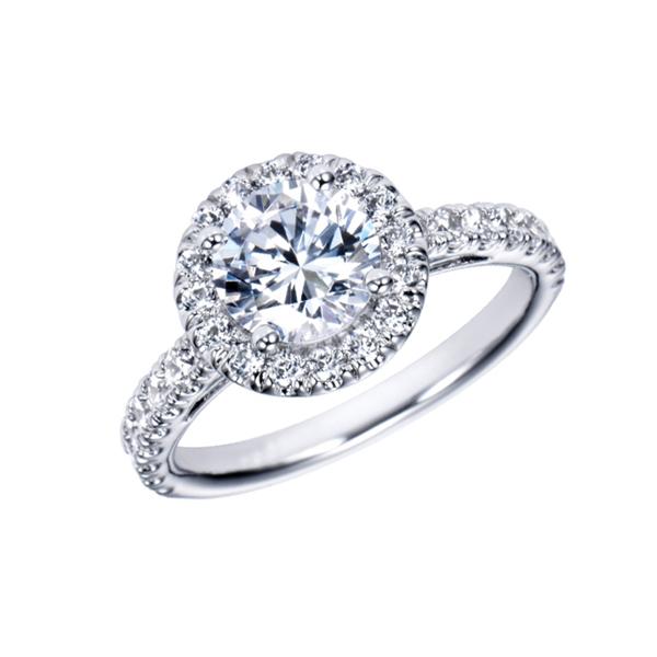 round diamond halo ring