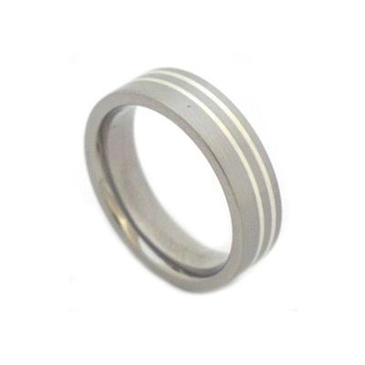 Titanium & silver ring