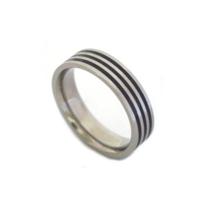 Black titanium rings