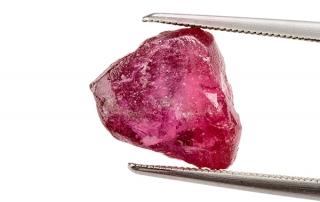Rough ruby crystal