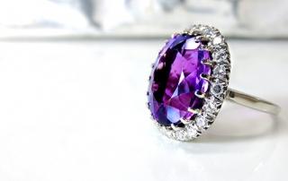 February birthstone Amethyst ring