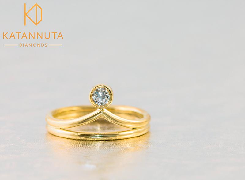 Crown engagement ring