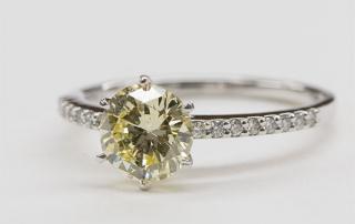 Yellow diamond ring on sale