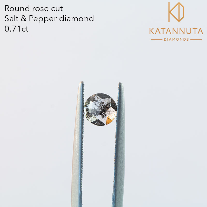 Rose cut salt and pepper diamond Johannesburg