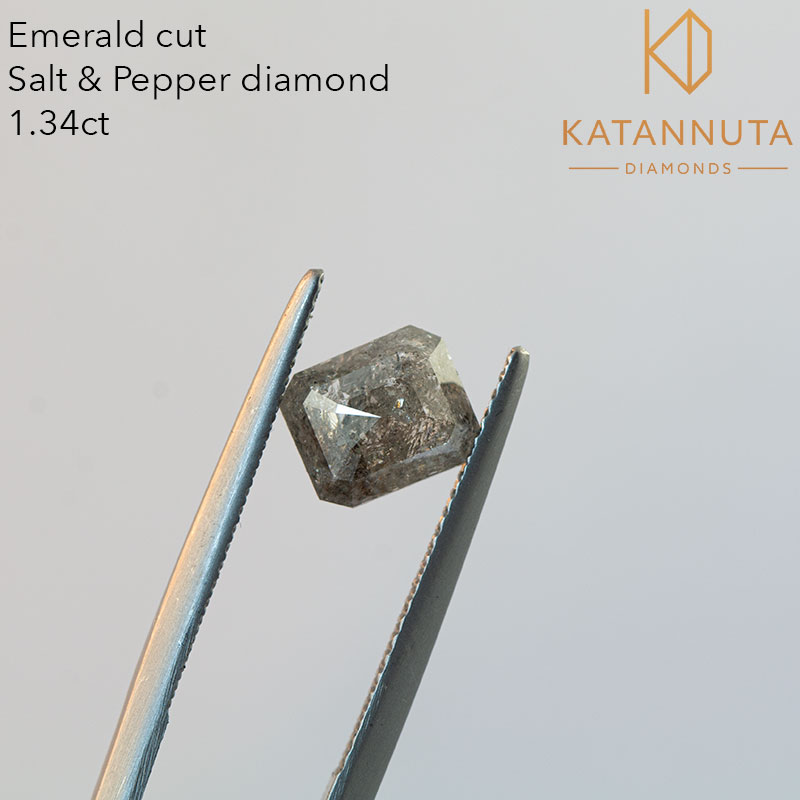 Emerald cut salt and pepper diamond for sale in south africa