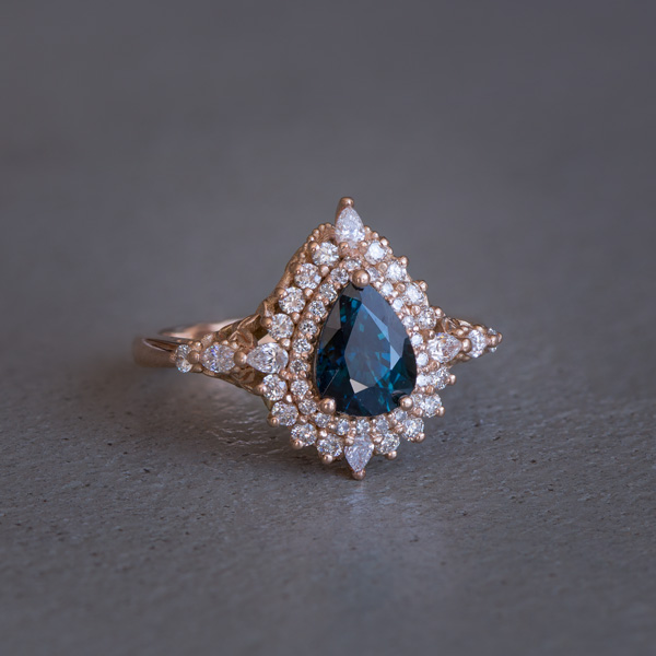 Antique teal sapphire ring South Africa