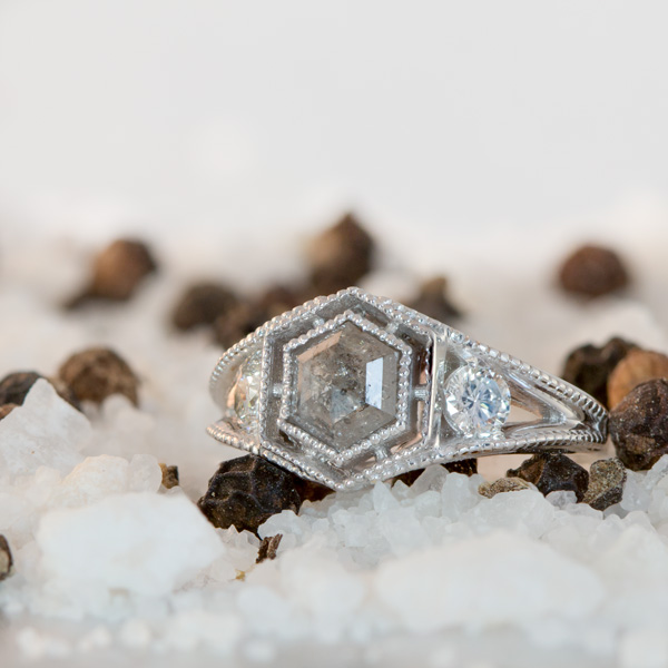 salt and pepper diamond ring South Africa