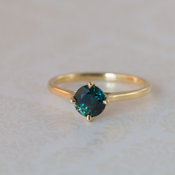 Yellow gold peacock sapphire ring South Africa