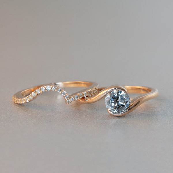 round salt and pepper diamond ring South Africa